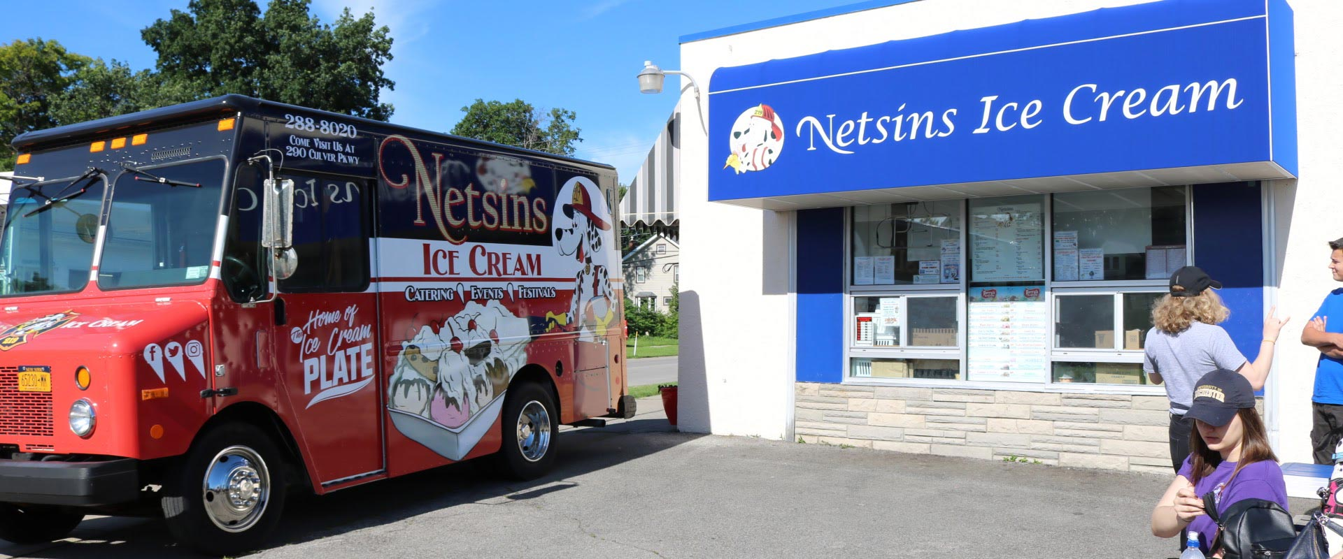 Netsins Ice Cream truck and store